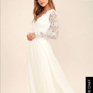 Lulu's Awaken My Love White Maxi Dress